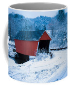 Red Vermont Covered Bridge Coffee Mug