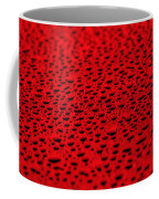 Red Water Drops On Water-repellent Surface Coffee Mug