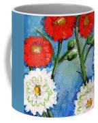 Red White And Blue Flowers Coffee Mug