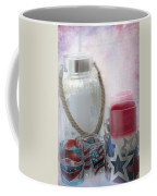 Red White And Blue Coffee Mug by Judy Hall-Folde