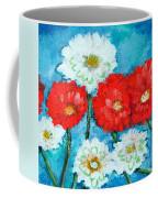 Red White And Blue Zinnia Flowers Coffee Mug