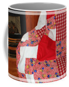 Red White And Gingham With Flowery Blocks Patchwork Quilt Coffee Mug