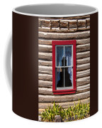 Red Window Log Cabin - Idaho Coffee Mug