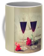 Red Wine And Roses Coffee Mug