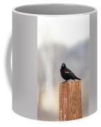 Red Wing Black Bird On Post IIi Coffee Mug