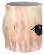 Red-wing Blackbird In Flight Coffee Mug