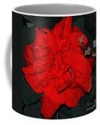 Red Winter Rose Coffee Mug