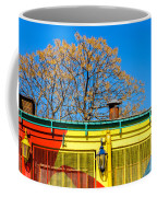 Red Yellow And Blue Building Coffee Mug