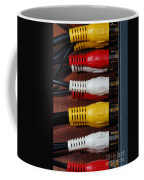 Red Yellow And White Cables Coffee Mug