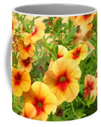 Red Yellow Morning Glories Coffee Mug