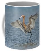 Reddish Egret Fishing Coffee Mug