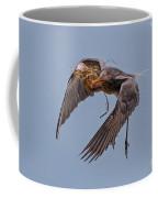 Reddish Egret With Nest Building Coffee Mug