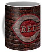Reds Baseball Graffiti On Brick  Coffee Mug