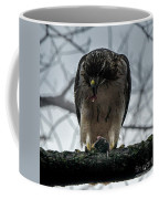 Redtail Hawk And Mouse Coffee Mug