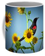 Redwing In Sunflowers Coffee Mug
