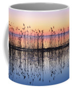 Reeds Reflected In Water At Dusk Ile Coffee Mug