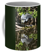 Reflected Great Blue Heron Coffee Mug