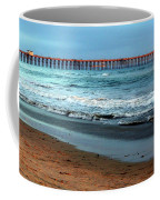 Reflected Sunlight At Pier's End Coffee Mug