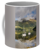 Reflected Yachts In Loch Leven Coffee Mug