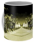 Reflected Yellow Huts  Coffee Mug