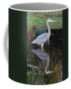 Reflecting Great Blue Heron Coffee Mug