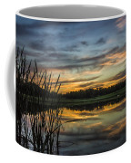 Reflection At Sunset With Cattails Coffee Mug