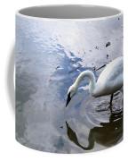 Reflection Of A Lone White Swan Coffee Mug