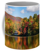 Reflection Of Autumn Trees In A Pond Coffee Mug