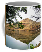 Reflection Of Butte Across From Lepage Rv Park Into Columbia River-oregon Coffee Mug