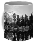 Reflection Of Trees And Mountains Coffee Mug