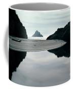 Reflection On Bixby Beach Big Sur California By Pat Hathaway Coffee Mug