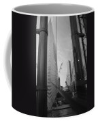 Reflections At The 9/11 Museum In Black And White Coffee Mug