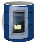 Reflections In A Shed Window - Curiosity - Fishing Coffee Mug