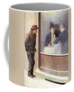 Reflections Of A Hungry Man Or Social Contrasts Coffee Mug by Emilio Longoni