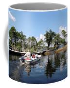 Reflection's Of A Lone Fisherman Coffee Mug