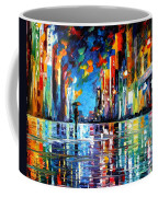 Reflections Of The Blue Rain - Palette Knife Oil Painting On Canvas By Leonid Afremov Coffee Mug