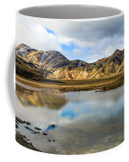 Reflections On Landmannalaugar Coffee Mug