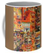 Reflections - Villefranche Coffee Mug by Peter Graham