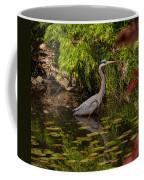 Reflective Great Blue Heron Coffee Mug