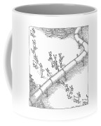Reindeer In A Conga Line Do The Limbo Coffee Mug