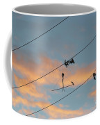 Remains Of Kite On The Electric Power Line Coffee Mug