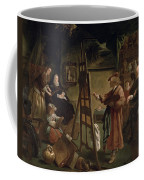 Rembrandt In His Studio Coffee Mug
