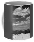 Remote Desert Road To Mountains Coffee Mug