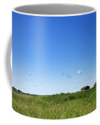 Remote Prairie Landscape With Abandoned Buildings Coffee Mug