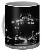 Reno Nevada The Biggest Little City In The World. The Arch Spans Virginia Street Circa 1936 Coffee Mug