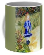 Renoir Girl With Watering Can In Watercolor Coffee Mug