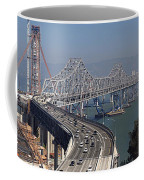 Replacement Of The Easter Span San Francisco Oakland Bay Bridge From Yerba Buena Island Oct 9th 2011 Coffee Mug