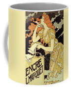 Reproduction Of A Poster Advertising 'marquet Ink' Coffee Mug by Eugene Grasset