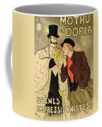 Reproduction Of A Poster Advertising Mothu And Doria In Impressionist Scenes Coffee Mug