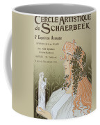 Reproduction Of A Poster Advertising 'schaerbeek's Artistic Circle Coffee Mug